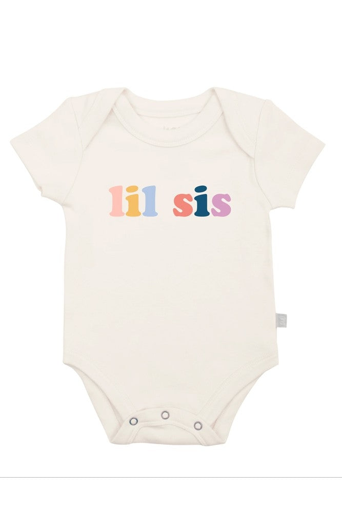 Finn + Emma Organic Cotton Graphic Bodysuit - Lil Sis