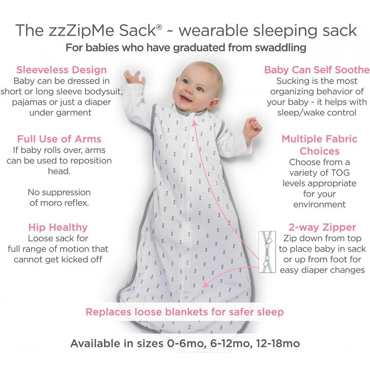 Swaddle Designs Muslin zzZip Me Sleep Sack