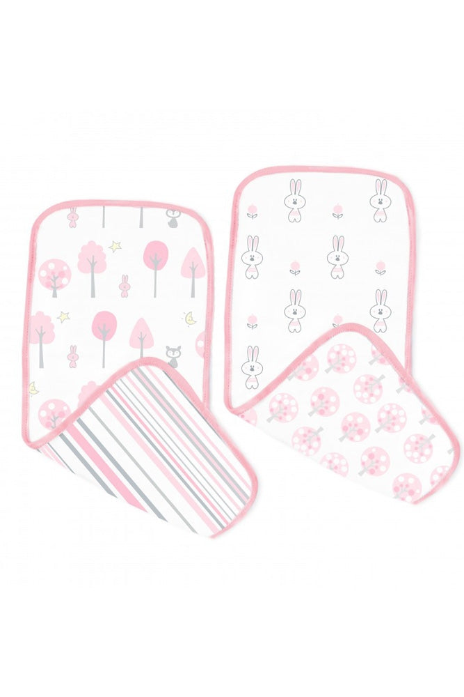 Swaddle Designs Cotton Muslin Baby Burp Cloths (Set of 2)
