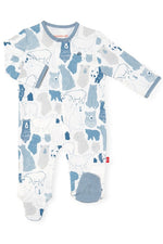 Magnetic Me 100% Organic Cotton Magnetic Baby Footie - Unbearable Cute