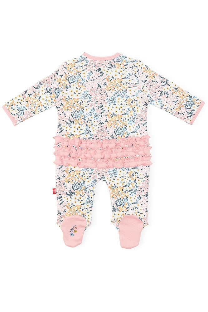 Magnetic Me 100% Organic Cotton Magnetic Baby Footie - Chelsea