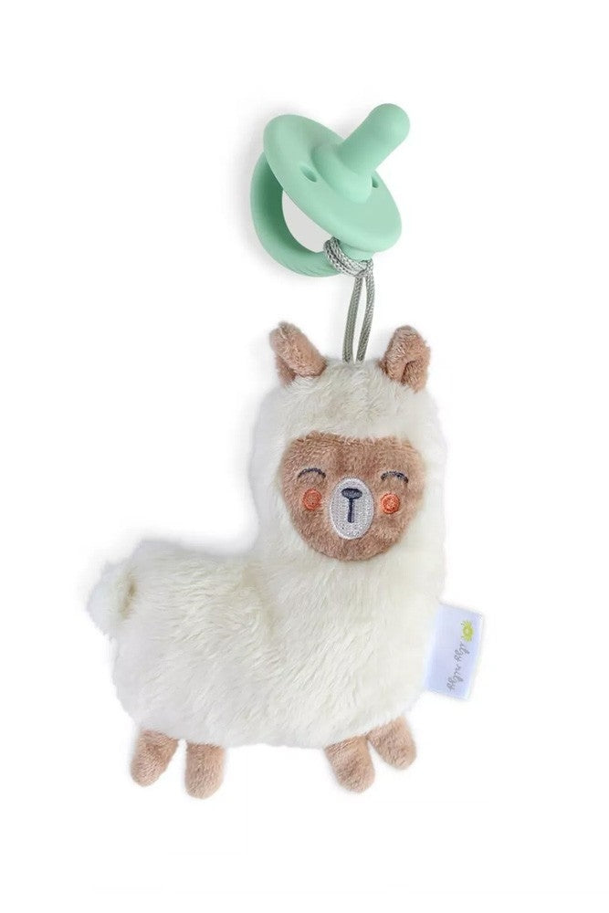 Itzy Ritzy Sweetie Pal Plush & Silicone Pacifier Set - Llama + Mint Cable