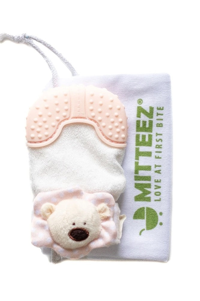 Mitteez Organic Teething Mitten - Pea Bear Mitty