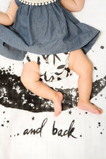 Baby Jives Co Organic Cotton Baby Swaddle - Moon and Back
