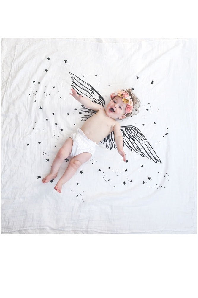 Baby Jives Co Organic Cotton Baby Swaddle - Wings