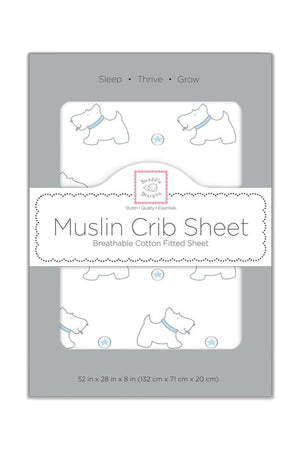 Swaddle Designs Premium Cotton Muslin Fitted Crib Sheet