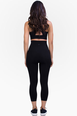 Belly Bandit Mother Tucker Slimming Capri Leggings - Black