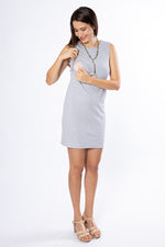 Alex Ribbed Tank Dress - Heather Grey