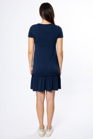 Ophelia Maternity & Nursing Dress - Navy
