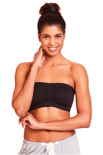 La Leche League Seamless Strapless Nursing Bra - Black