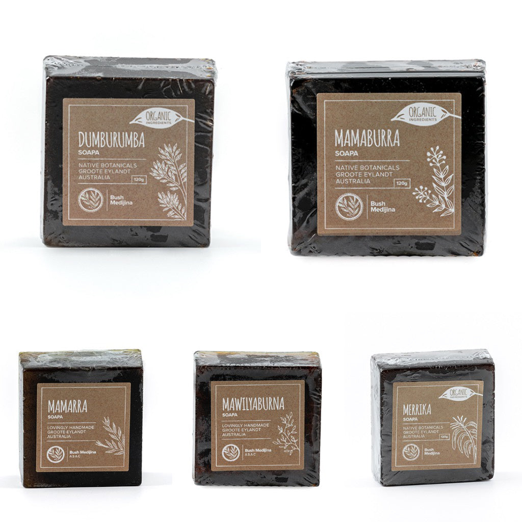 Bush Medijina Bar Soap Collection - Shop Fair trade, Ethically handmade, natural Australian skincare at ONLY JUST