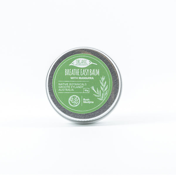 Bush medijina breathe easy balm 10 grams - Shop Fair trade, Ethically handmade, natural Australian skincare at ONLY JUST