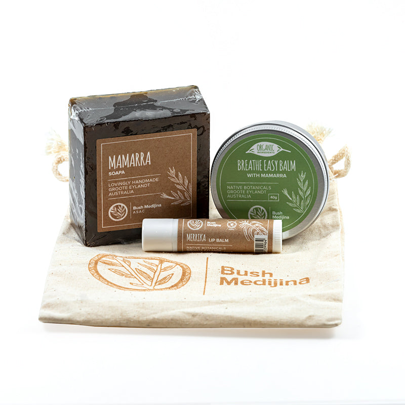 Bush medijina Fair Trade Gifts - Breathe Easy Gift Pack - Handmade Australian Natural Skincare - Supporting Indigenous Australian Business