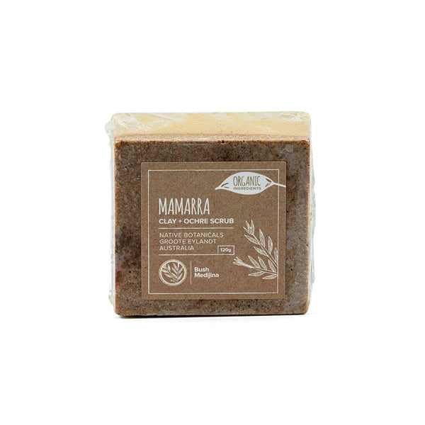 Bush Medijina Mamarra Clay & Ochre body scrub collection - Shop Fair trade, Ethically handmade, natural Australian skincare at ONLY JUST