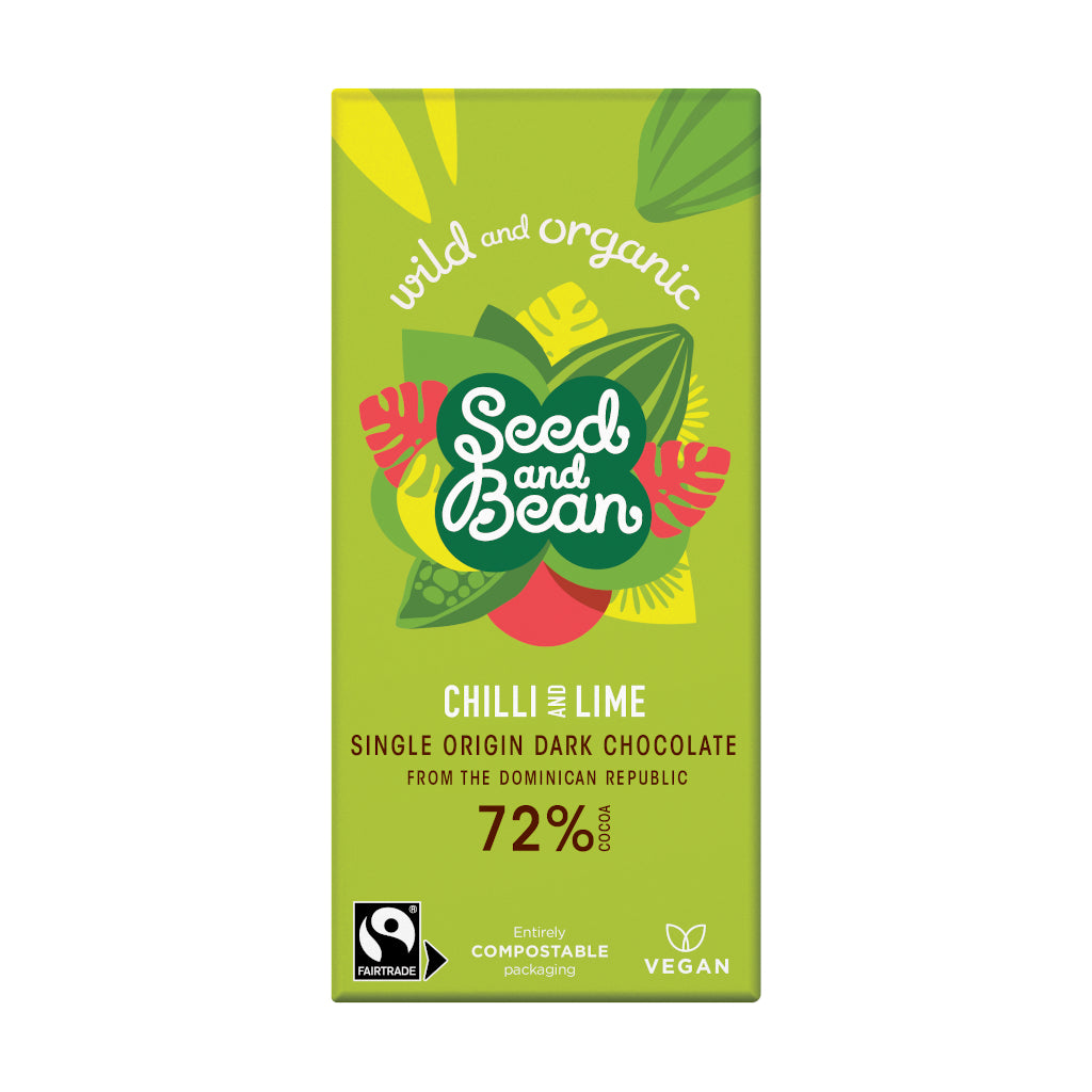 Seed & Bean Chocolate extra dark 72% chilli lime
