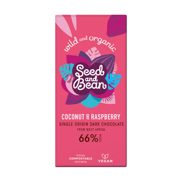 Seed & Bean Chocolate dark 66% coconut raspberry