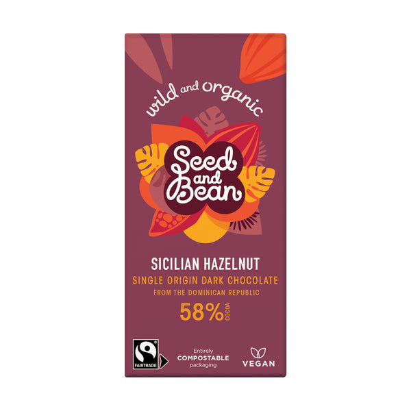 Seed & Bean Chocolate dark 58% hazelnut