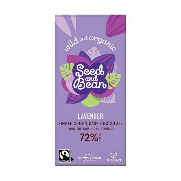 Seed & Bean Chocolate dark 72% lavender
