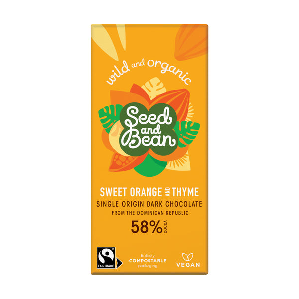 Seed & Bean Chocolate dark 58% orange thyme