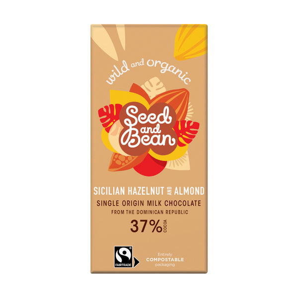 Seed & Bean Chocolate milk 37% hazelnut almond