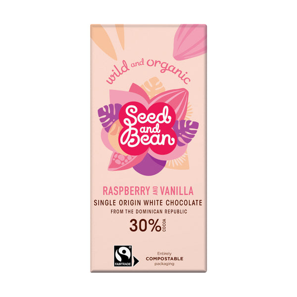 Seed & Bean Chocolate white raspberry vanilla