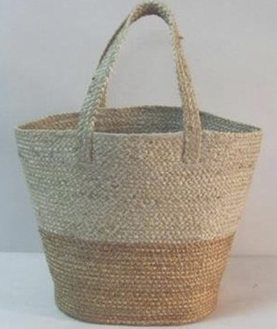 U-Chus 2-Tone Braided Jute Tote Bag / Basket, Bangladesh