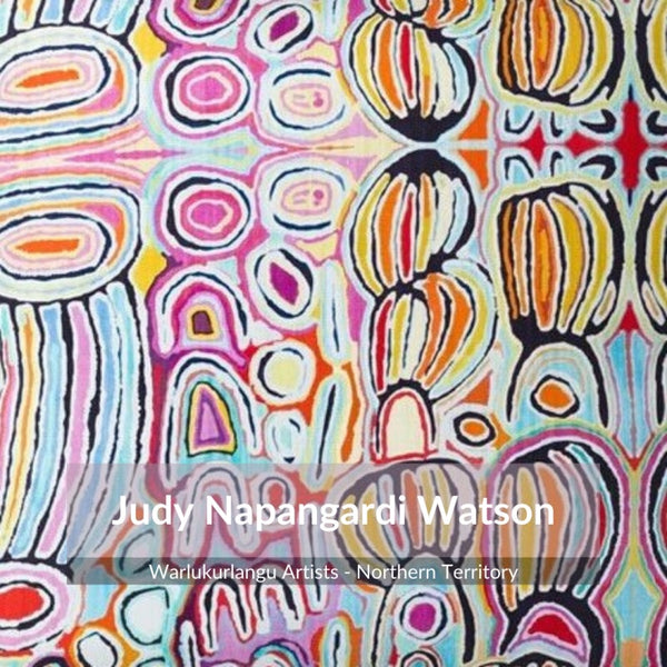 Alperstein Designs Aboriginal Art Print Table Runner design by Judy Watson