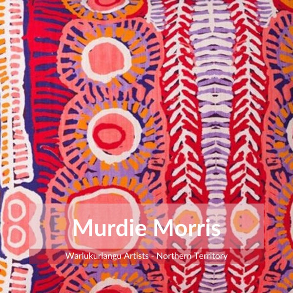 Detail of Aboriginal design by artist Murdie Morris