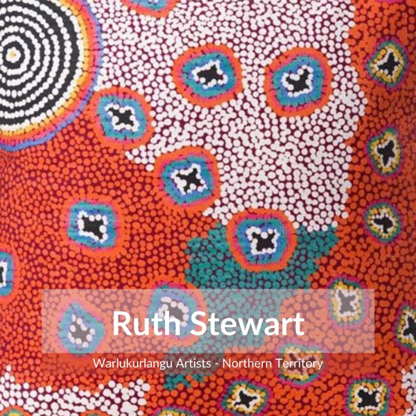 Alperstein Designs Aboriginal Art Print Table Runner design by Ruth Stewart