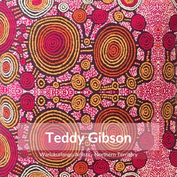 Detail of Aboriginal design by artist Teddy Gibson
