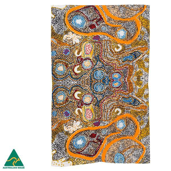 Alperstein Designs Aboriginal Art Print Tea Towel design by Elaine Lane
