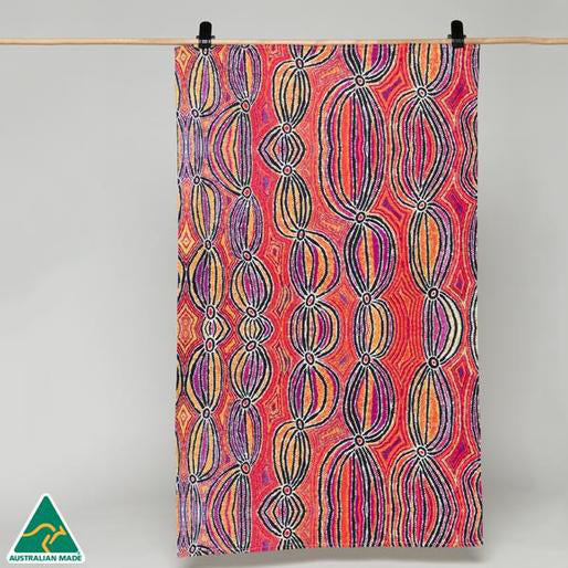Alperstein Designs Aboriginal Art Print Tea Towel design by Liddy Walker
