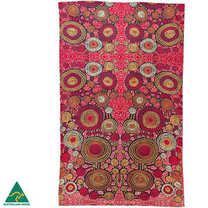 Alperstein Designs Aboriginal Art Print Tea Towel design by Teddy Gibson