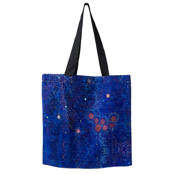 Alperstein Designs Fair Trade Gifts - Aboriginal Art Print Tote Bag design by Artist Alma Granites
