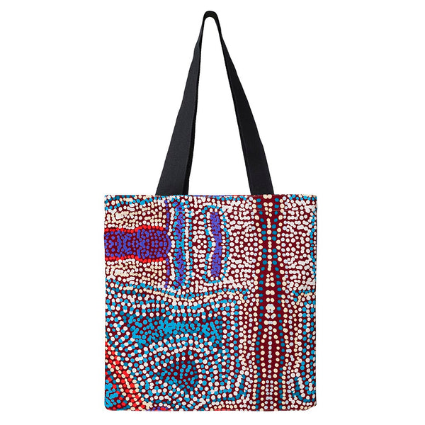 Alperstein Designs Fair Trade Gifts - Aboriginal Art Print Tote Bag design by Artist Elaine Lane