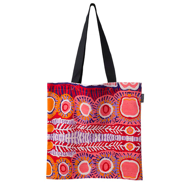 Alperstein Designs Fair Trade Gifts - Aboriginal Art Print Tote Bag design by Artist Murdie Morris