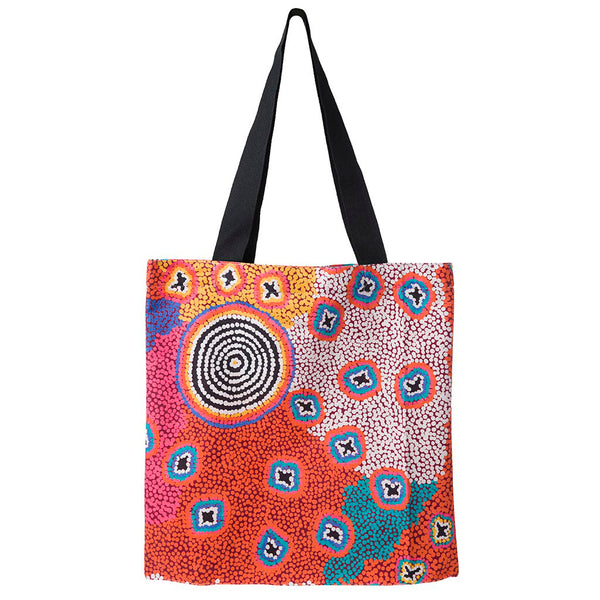 Alperstein Designs Fair Trade Gifts - Aboriginal Art Print Tote Bag design by Artist Ruth Stewart