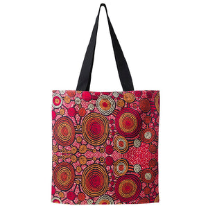 Alperstein Designs Fair Trade Gifts - Aboriginal Art Print Tote Bag design by Artist Teddy Gibson