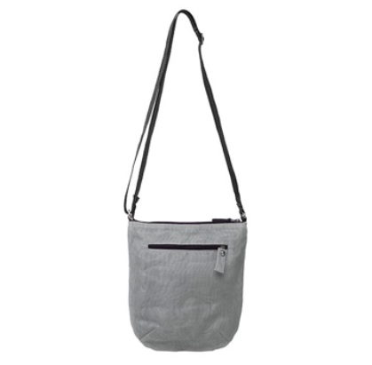 Pascal nylon bag by Smarteria - light grey nylon net body and adjustable long shoulder strap - Shop Fair Trade, Handmade, Ethical, Sustainable accessories & gifts Melbourne at ONLY JUST
