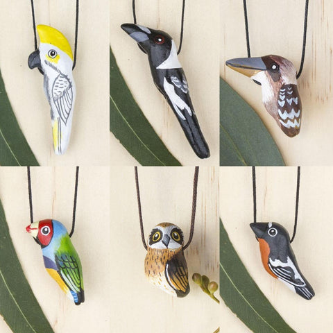 Songbird necklaces, six bird designs - Shop Fair Trade, Handmade, Ethical Gifts & Jewellery Australia at ONLY JUST.