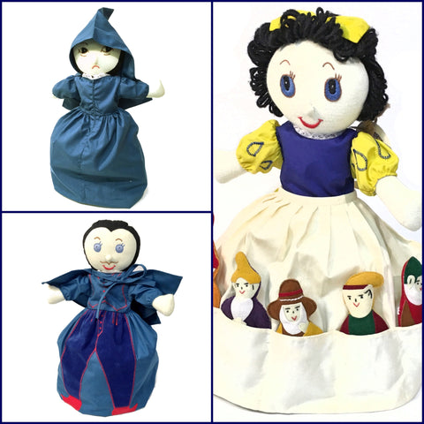 Snow White and the Seven Dwarfs Doll - Upside Down Toy Handmade in Thailand by the Fatima Centre | Shop Ethical Gifts for Children at ONLY JUST |