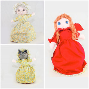 Little Red Riding Hood Doll - Upside Down Toy Handmade in Thailand by the Fatima Centre | Shop Ethical Gifts for Children at ONLY JUST |