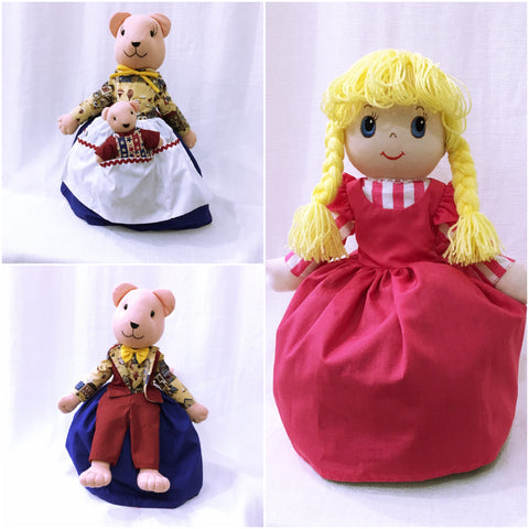 Goldilocks and the Three Bears Doll - Upside Down Toy Handmade in Thailand by the Fatima Centre | Shop Ethical Gifts for Children at ONLY JUST |
