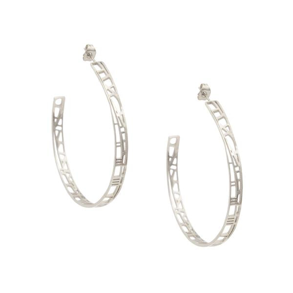 silver hoop earrings made by Eden from the Restoring Justice Collection  - Shop Ethical Jewellery & Fair Trade Gifts Melbourne at ONLY JUST