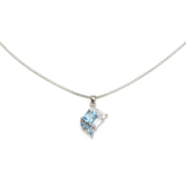 Silver Plated Necklace with Blue Stone Pendant from Eden Salt and light collection - Shop Ethical Jewellery & Fair Trade Gifts Melbourne at ONLY JUST