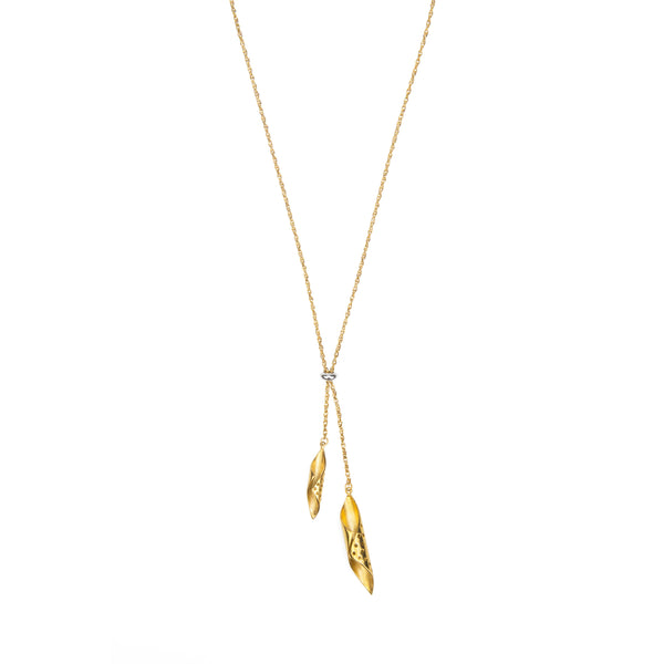gold plated chrysalis pendants handing from a gold plated chain - Shop Ethical Jewellery & Fair Trade Gifts Melbourne at ONLY JUST