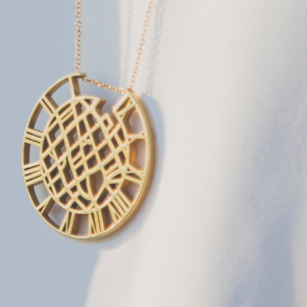 detail close-up of gold pendant and chain necklace - Eden's restoring justice collection - Shop Ethical Jewellery & Fair Trade Gifts Melbourne at ONLY JUST