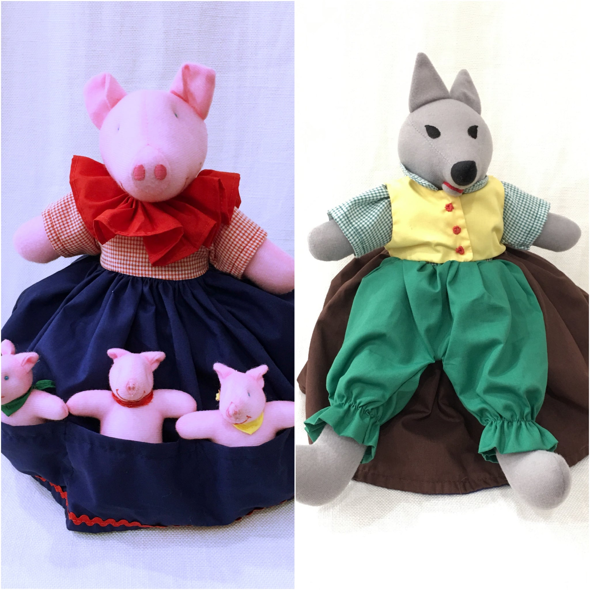 The Three Little Pigs Doll - Upside Down Toy Handmade in Thailand by the Fatima Centre | Shop Ethical Gifts for Children at ONLY JUST |