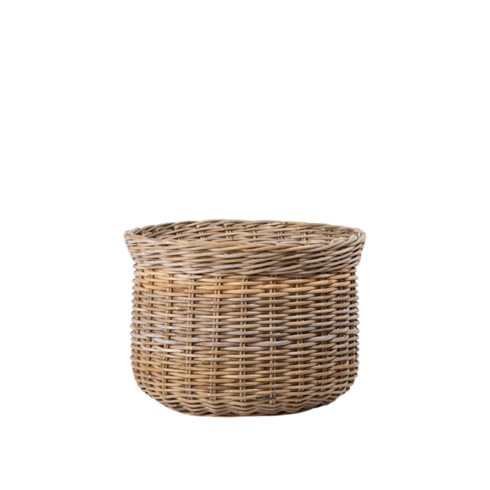 Kubu Rattan Round Basket - Small, Indonesia