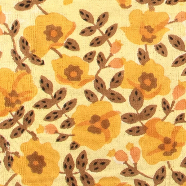 detail of golden blossoms pattern